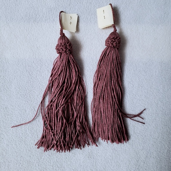 Two Large Mauve Vintage Tassels New Old Stock